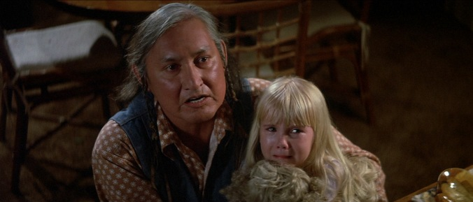 Will Sampson as Taylor and Heather O'Rourke as Carol-Anne