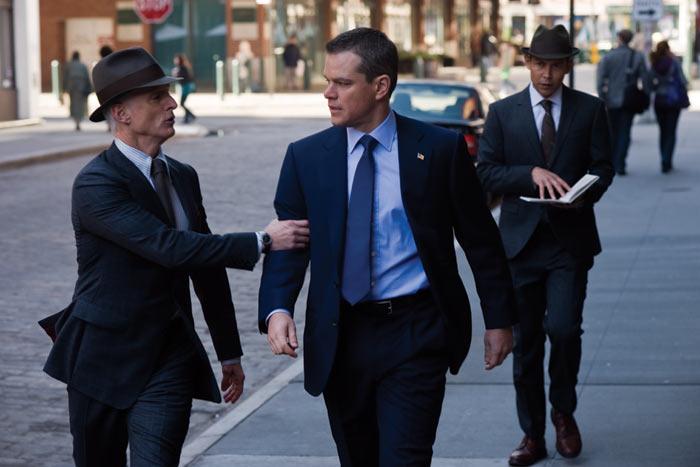 Matt Damon with the Men in, urm, Grey
