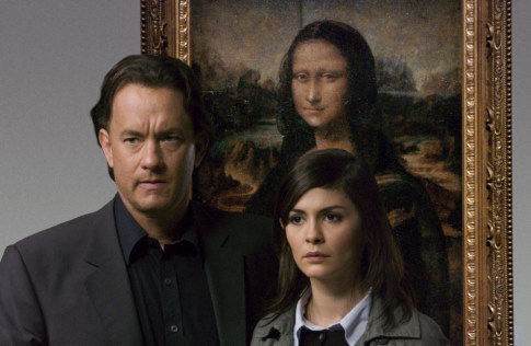Robert Langdon (Tom Hanks) and Sophie Neveu (Audrey Tautou)