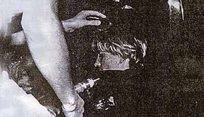 A rare, controversial and tragic photo included in the film - Diana post-crash