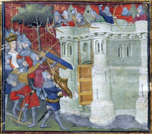 Queen Isabella and her forces