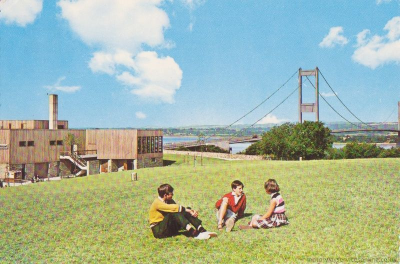 The original Severn View service station, where Richey's car was found, with the Severn Bridge in the background