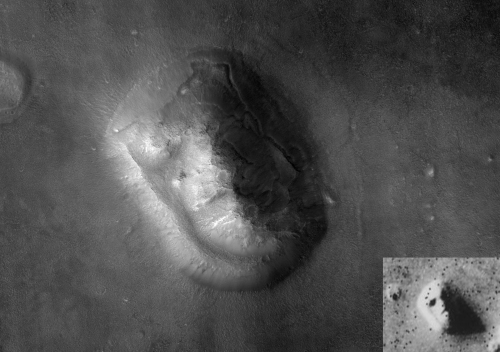 Newer image of the 'Face on Mars'
