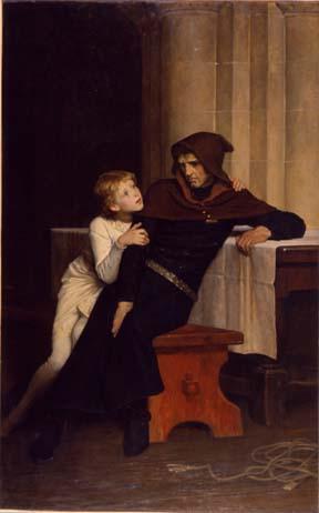 Prince Arthur and his guard, Hubert de Burgh