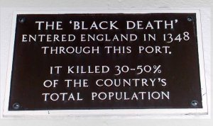 A plaque in Weymouth, Dorset