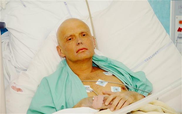 Alexander Litvinenko - just before his death