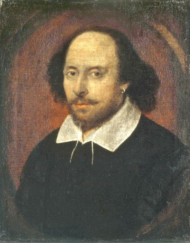 The Chandos portrait - it's believed to be of Shakespeare, but nobody knows for sure