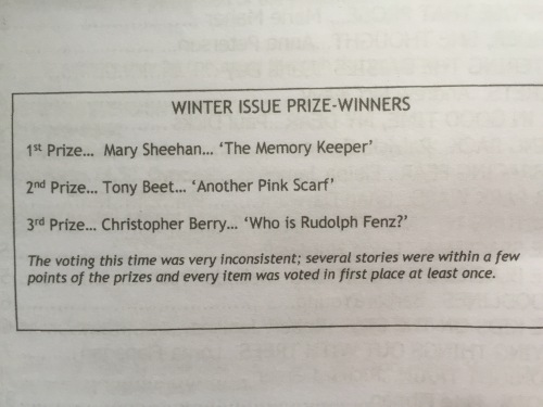 Scribble Prize Winners