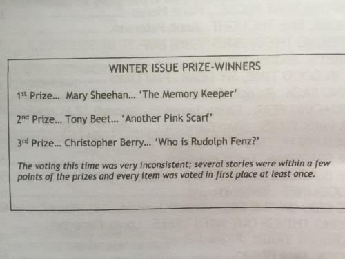Scribble Prize Winners