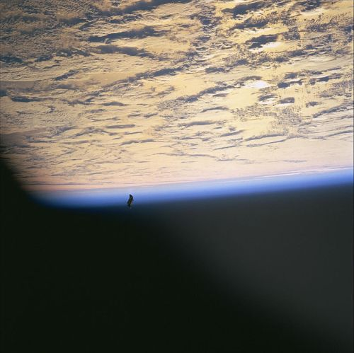 One of the famous 1998 images of the Black Knight Satellite
