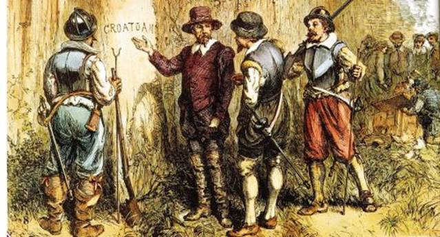 John White returns to Roanoke to find the colony missing