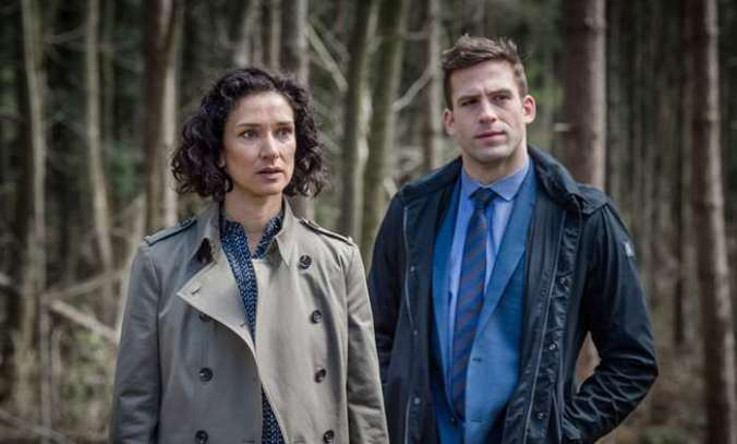 Indira Varma and Dino Fetscher
