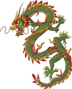 Depiction of a Chinese dragon