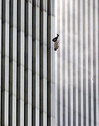 'The Falling Man' - photo of an unidentified 9/11 victim, taken by Associated Press photographer Richard Drew